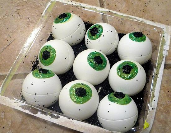 ping pong balls painted like eyeballs