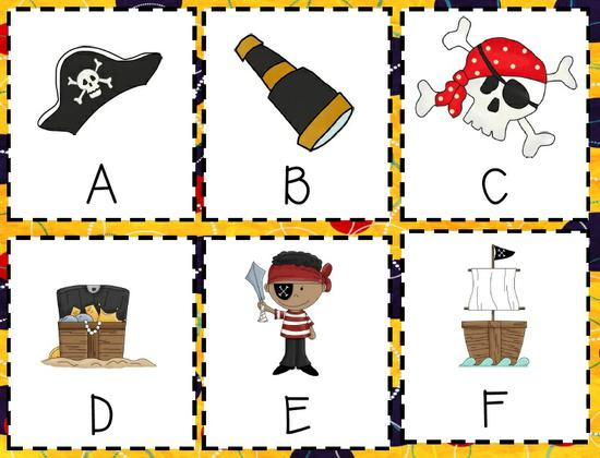 Pirate Themed Games and Kindergarten Lesson Plan