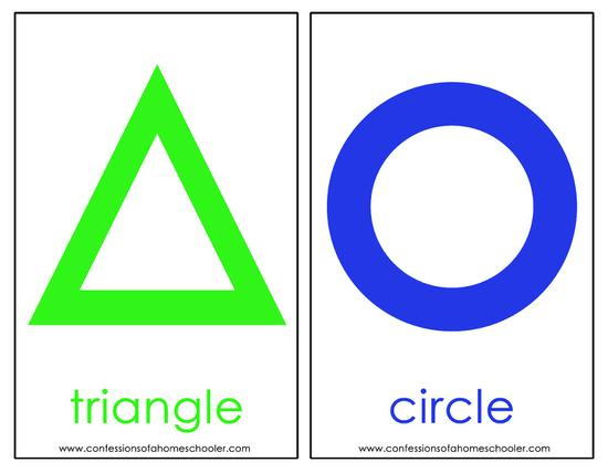 green triangle blue circle