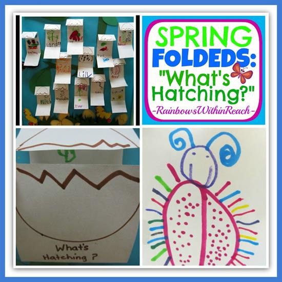 Folded Books Activity for Spring