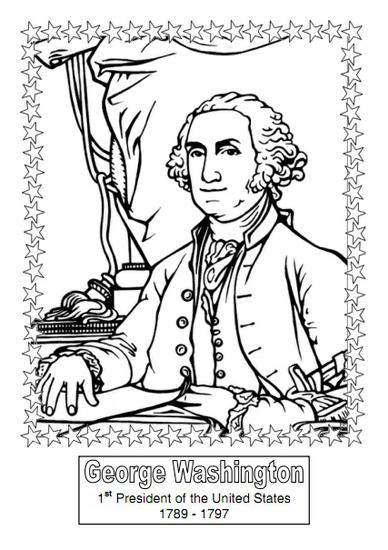 President's Day History Coloring Book Preschool Printable