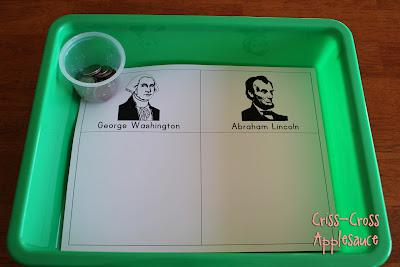 President's Day and Money Preschool Lesson Plan