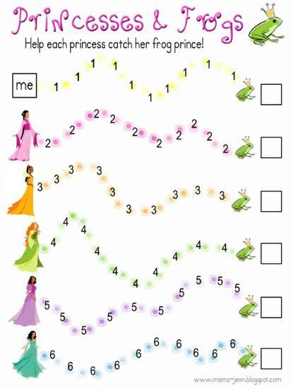 Princess Math Game Preschool Printable