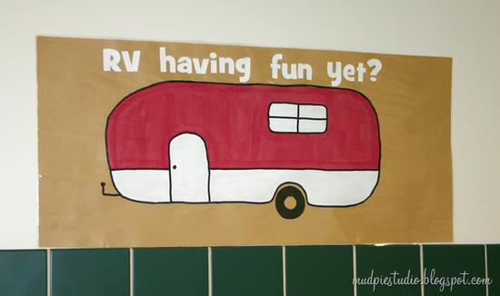 Camping Themed Back To School Bulletin Board