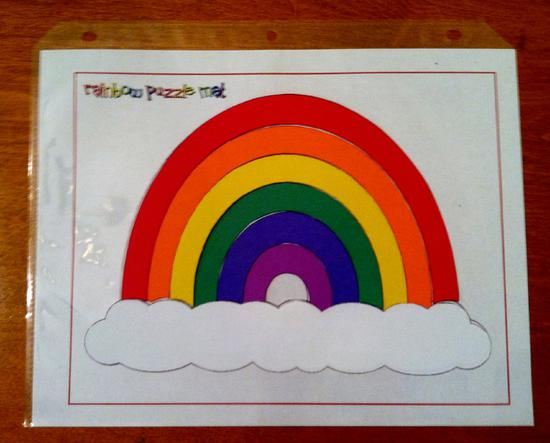 Rainbow and Color Puzzle Preschool Printable