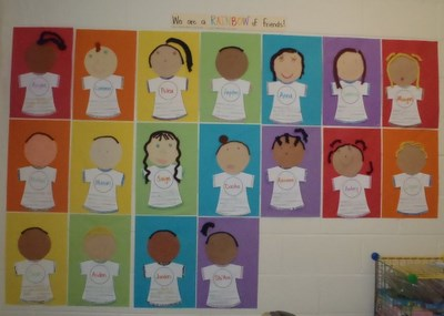 Preschool and Kindergarten Back To School Bulletin Board Idea
