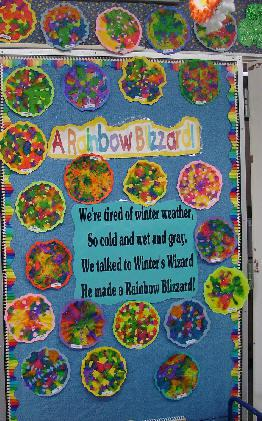 Wishing For Spring Rainbow Blizzard Classroom Display Supplyme