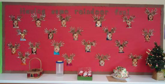 Winter and Christmas Rudolph Bulletin Board Idea