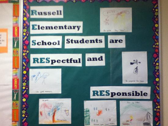 Character Building Back To School Bulletin Board Idea