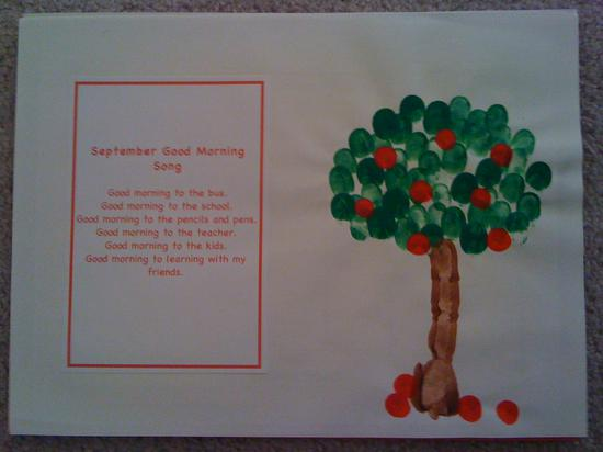 fingerprint apple tree and school poem