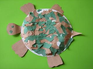 paper plate yertle the turtle collage crafts