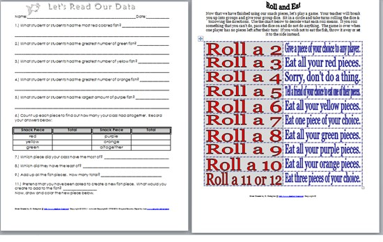 Dr Seuss Read Across America Fish Sorting and Graphing Preschool Printable