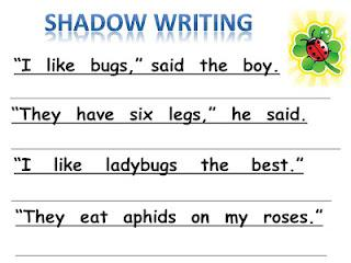 Spring Bug Theme Writing Center Kindergarten Lesson Plan