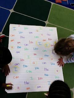 Sight Word Literacy Center and Kindergarten Lesson Plan