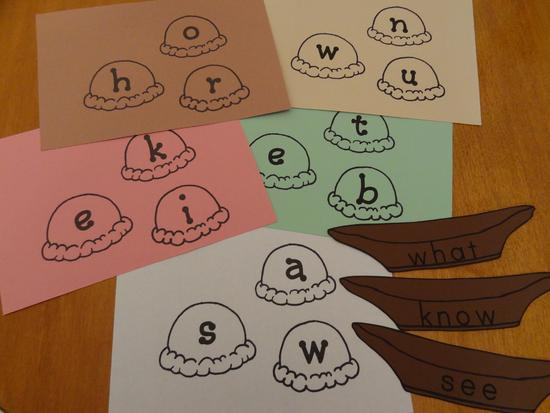 Sight Word Literacy Center Kindergarten Lesson Plan