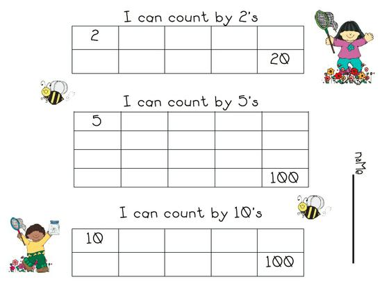 spring skip counting printable worksheet