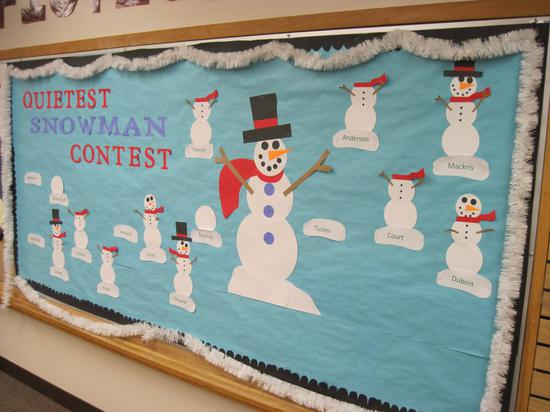 Winter Snowman Behavior Management Bulletin Board Idea