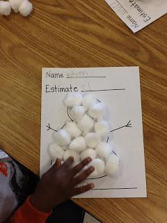 Winter Snowman Estimation and Measuring Math Preschool Lesson Plan