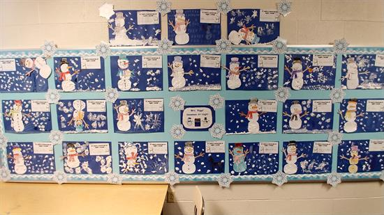 Snowmen At Night Craft Activity Bulletin Board Idea Supplyme