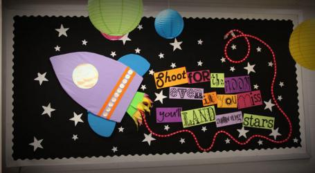 Rocket Moon and Stars Bulletin Board Idea
