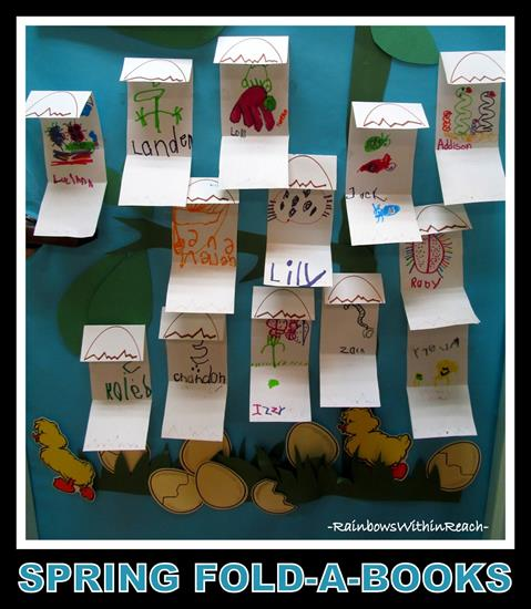 Folded Books Activity for Spring, Door Display