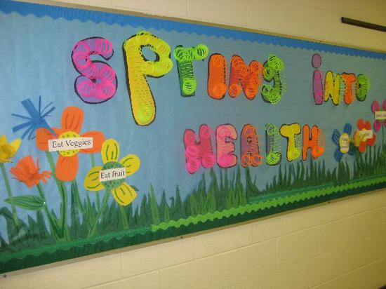 Spring Heath Bulletin Board Idea