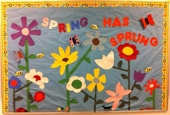 Spring Has Sprung Seasonal Bulletin Board Decoration Supplyme