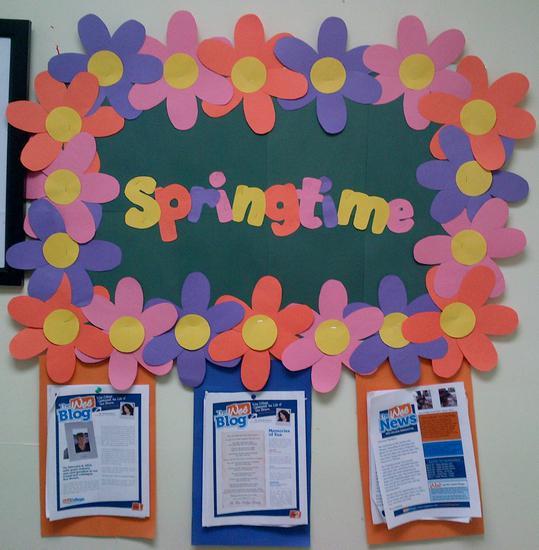 Springtime Seasonal Bulletin Board Idea Supplyme