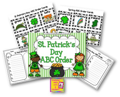 ABC Order Activity for St. Patrick's Day