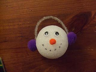 Christmas and Winter Snowman Ornament Craft for Kids