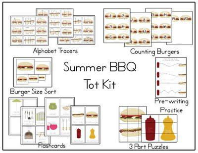 Summer BBQ Themed Multi-Skill Preschool Printables