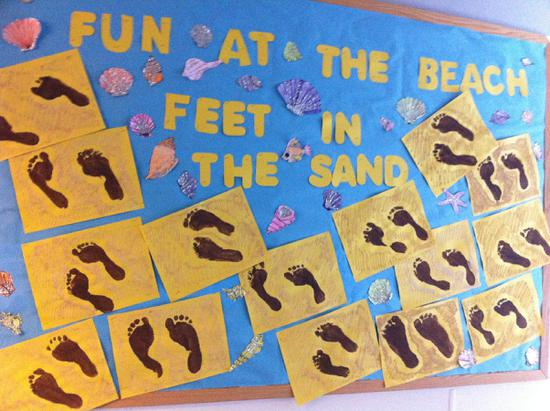Elementary Summer Bulletin Board Idea