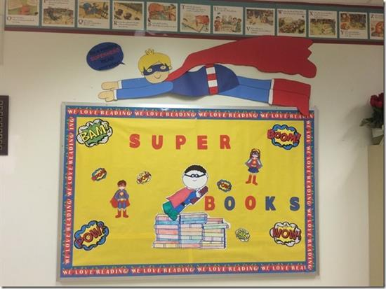 """Be A Reading Superhero!"" Bulletin Board & Library Display ..."