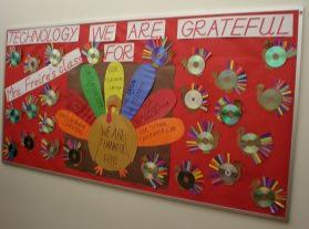Technology We Are Grateful For Thanksgiving Bulletin Board Idea Supplyme