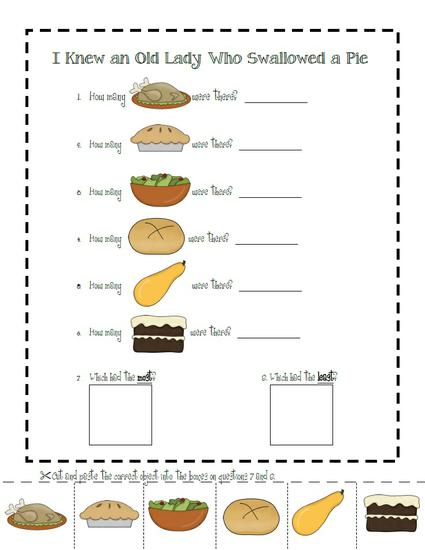 Thanksgiving Graphing Preschool Printable