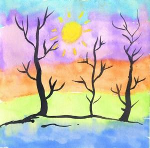 Thick & Thin Watercolor Trees