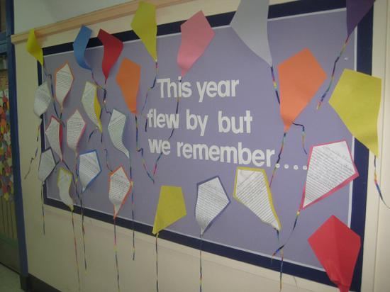 Kindergarten and Elementary End of the Year Bulletin Board Idea
