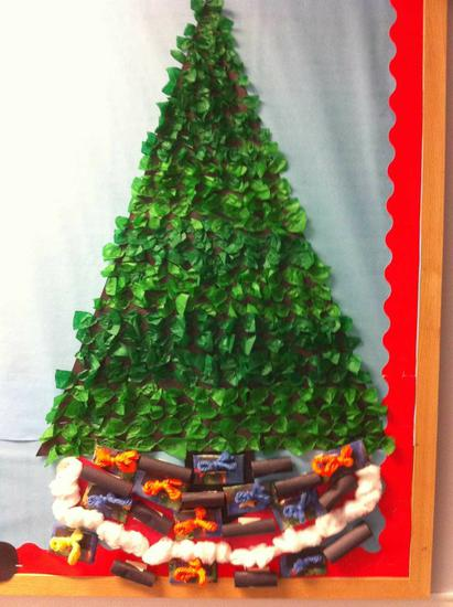 Green Tissue Paper Christmas Tree