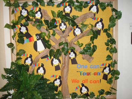 Toucan Welcome Back to School Bulletin Board Idea