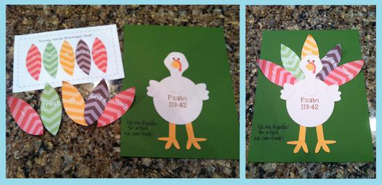 Turkey Craft for Kids and Preschool Printable