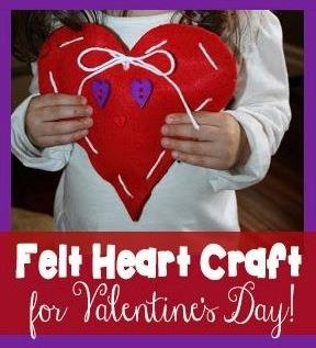 Felt Heart Craft For Valentine S Day Supplyme