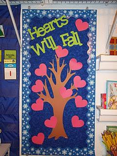 Valentine's Day Door Display and Bulletin Board Idea