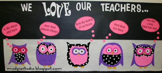 Teacher Appreciation and Valentine's Day Bulletin Board Idea