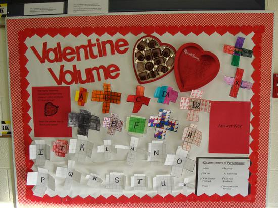 Elementary Valentine's Day Interactive Math Bulletin Board Idea