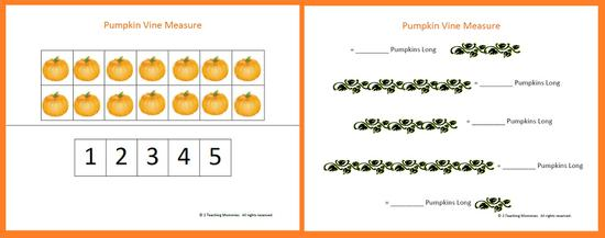 Fall Math Preschool Printable