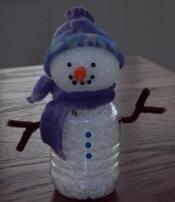 Winter Recycled Snowman Kids Craft