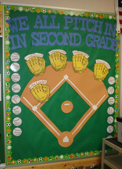 Classroom Management Baseball Bulletin Board Idea