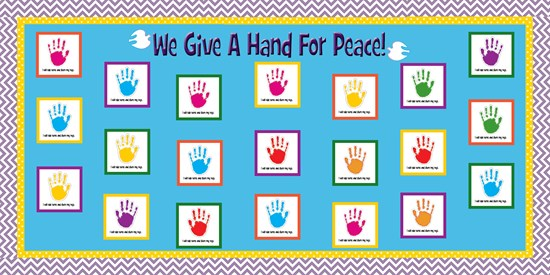We Give A Hand For Peace! - MLK Day Bulletin Board - SupplyMe