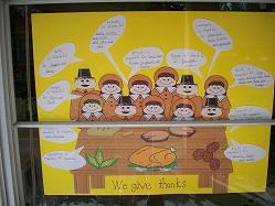 We Give Thanks Thanksgiving Pilgrim Bulletin Board Idea Supplyme