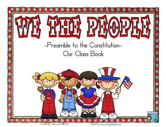 Patriotic Constitution Day Social Studies Preschool Printable